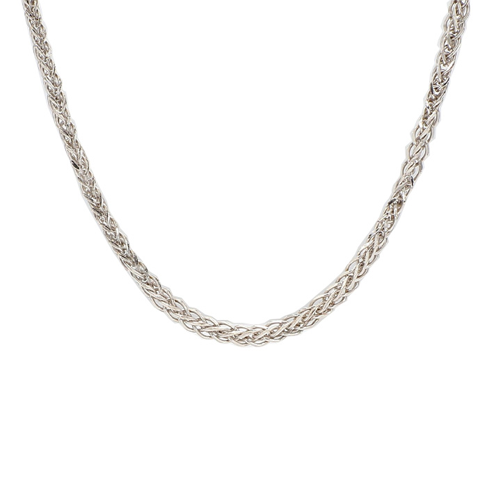 """GOLD NECKLACE- 14K WHITE GOLD