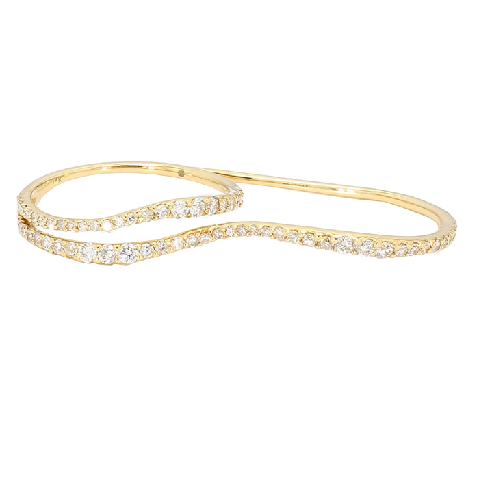 DIAMOND FASHION RING- 14K YELLOW GOLD| 0.50CT TDW