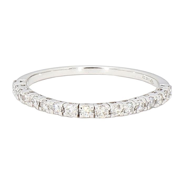 "DIAMOND WEDDING BAND- 14K WHITE GOLD| 1.0G| SIZE 6"""