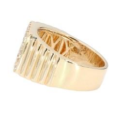 "MENS DIAMOND RING- 14K YELLOW GOLD| 14.1G| 1.61CT TDW| SIZE 11.50"""