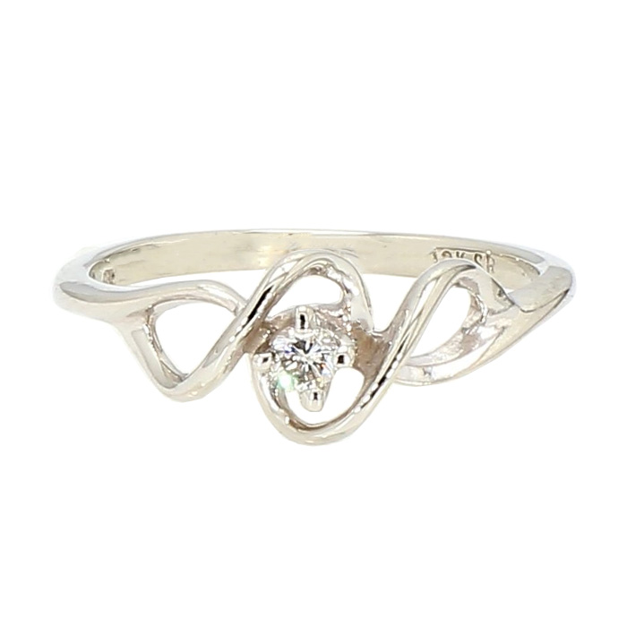 PROMISE RING- 10K GOLD| 1.2G| SIZE 4""