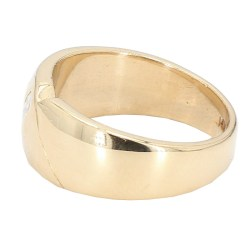 MENS WEDDING BAND- 14K YELLOW GOLD| 10.6G| SIZE 9""