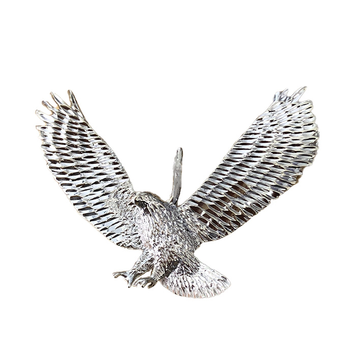 "EAGLE PENDANT- 14K WHITE GOLD|18.4G| 2"" X 2.5"""