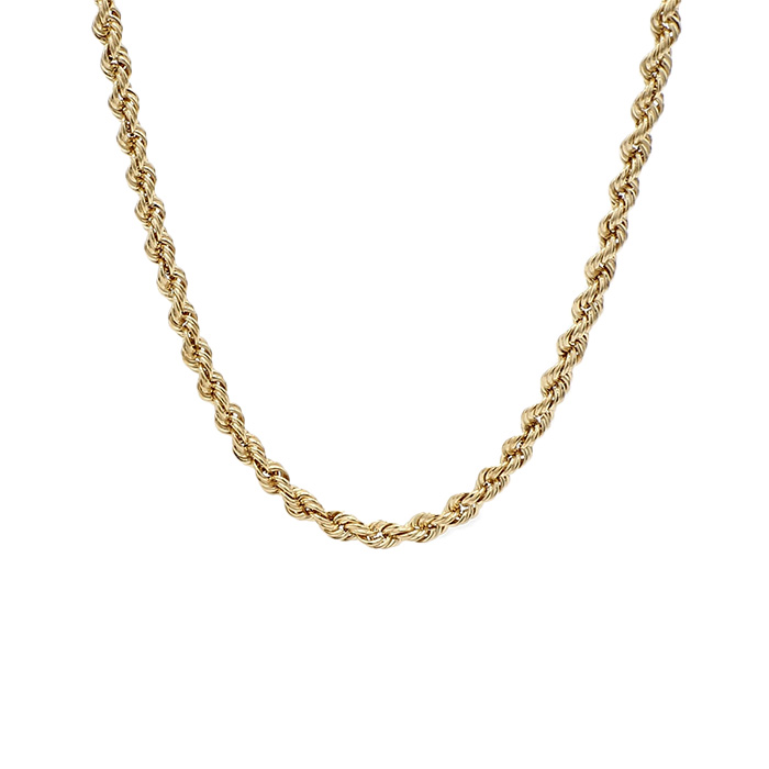 """ROPE NECKLACE- 14K YELLOW GOLD
