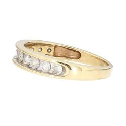 "WEDDING BAND- 10K YELLOW GOLD| 0.50CT TDW| SIZE 7.50"""
