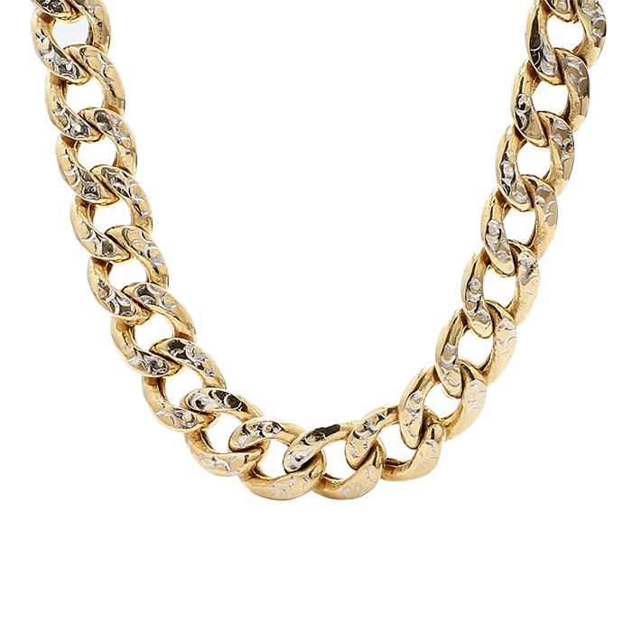 CURB NECKLACE- 14K YELLOW GOLD| 19G| LENGTH 24"