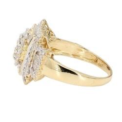DIAMOND RING- 14K YELLOW GOLD  4.8G  1.75CT TDW