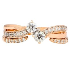 """DIAMOND ENGAGEMENT RING- 14K ROSE GOLD 0.75CT TDW  SIZE 8.75"""""""