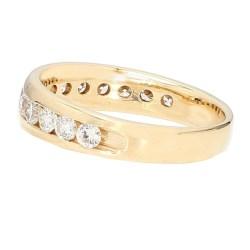 "DIAMOND WEDDING BAND- 14K  YELLOW GOLD| 1.00CT TDW| SIZE 9"""