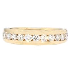 "DIAMOND WEDDING BAND- 14K  YELLOW GOLD  1.00CT TDW  SIZE 9"""