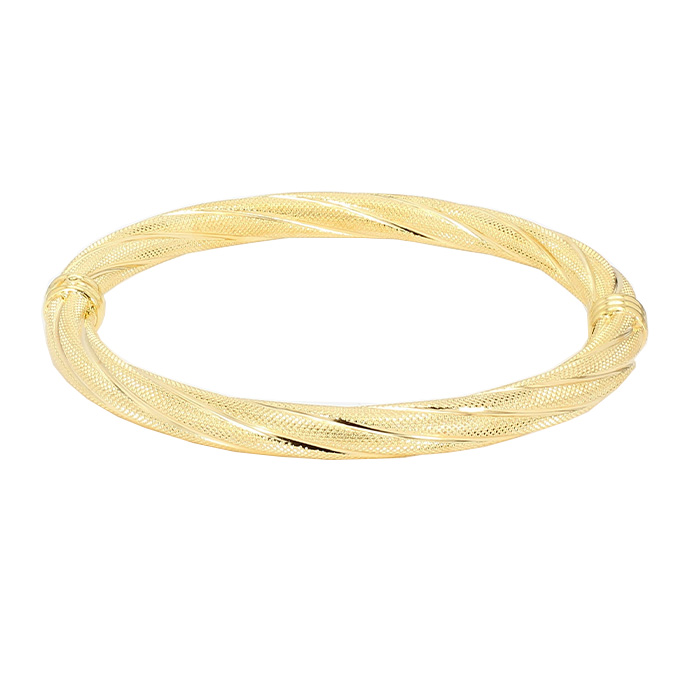 GOLD BANGLE- 14K YELLOW GOLD| 12.1G| SIZE 2.50""