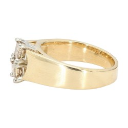 "DIAMOND ENGAGEMENT RING- 14K YELLOW GOLD| 0.90CT TDW| SIZE 6.50"""