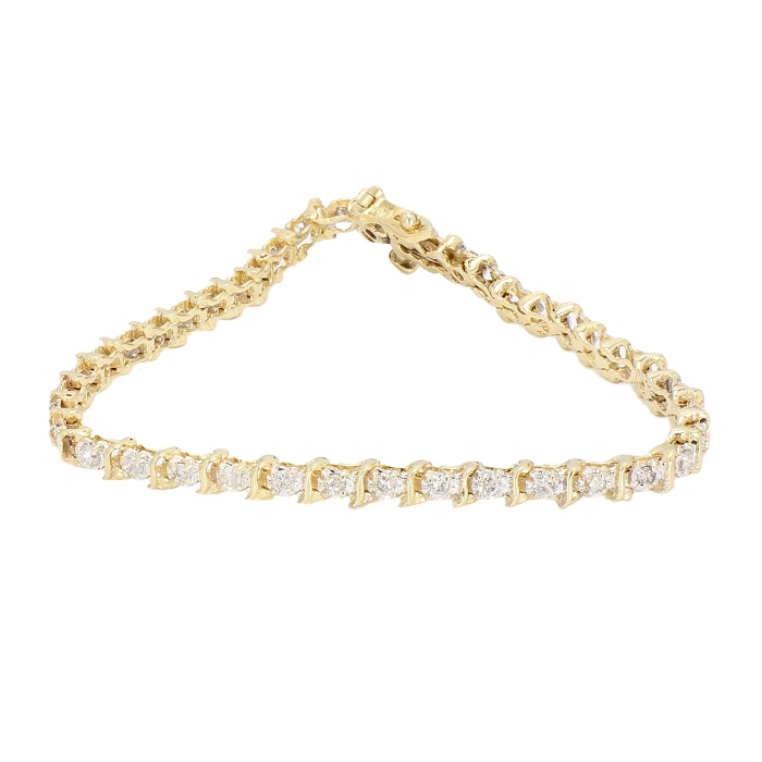 DIAMOND BRACELET- 14K YELLOW GOLD| 0.50CT TDW| LENGTH 6.50""