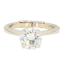 """AGS CERTIFIED DIAMOND ENGAGEMENT RING- 14K GOLD  1.75CT TDW  SIZE 5.50"""""""