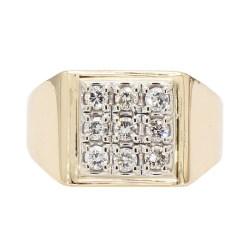 "DIAMOND RING- 14K YELLOW GOLD| 9.9G| 1.00CT TDW| SIZE 10"""