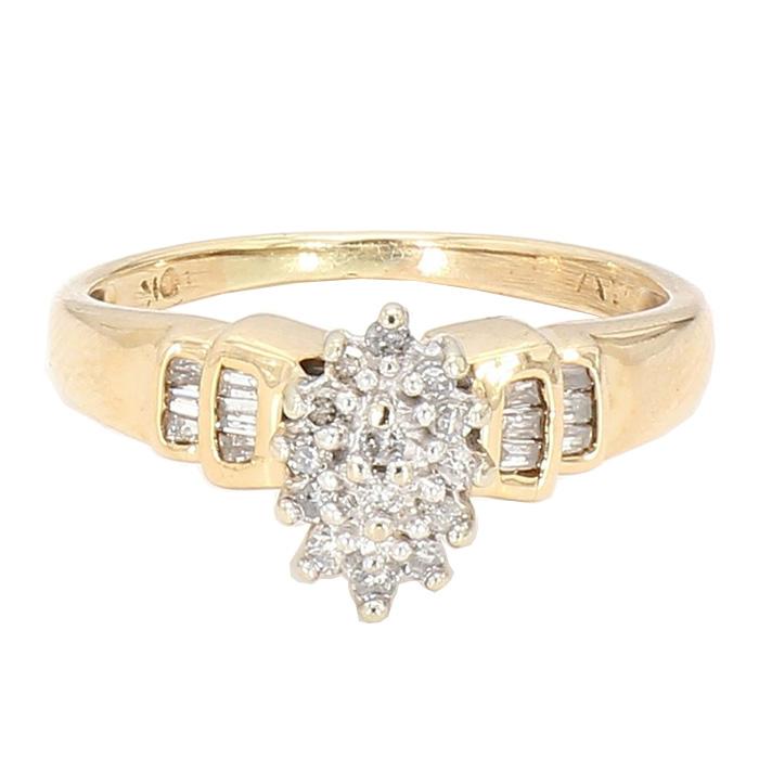 "DIAMOND RING- 10K YELLOW GOLD| SIZE 6"""