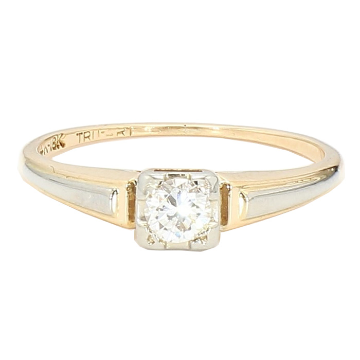 """SOLITAIRE DIAMOND RING- 14K YELLOW GOLD
