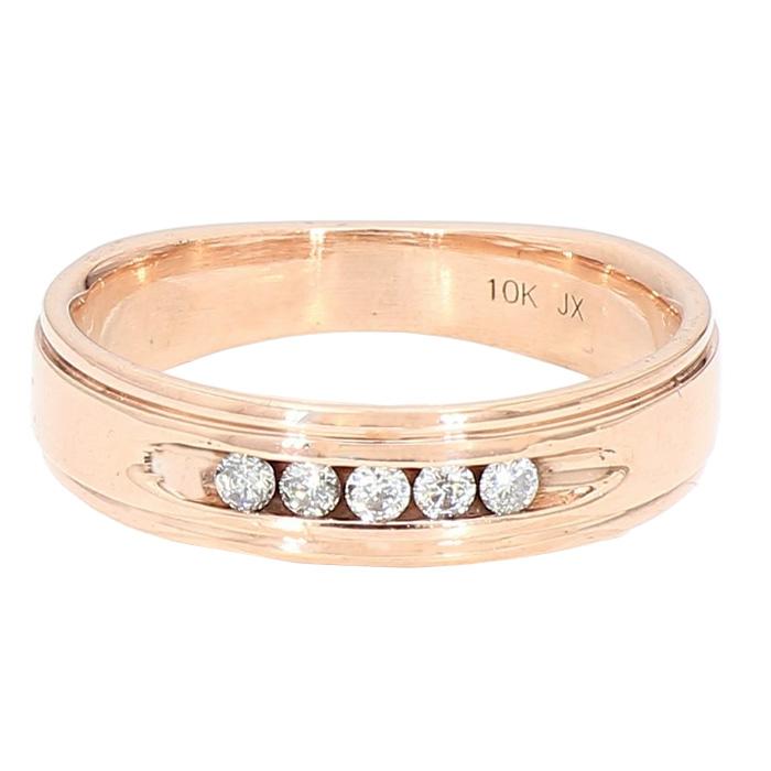 "DIAMOND BAND- 10K ROSE GOLD| 3.9G| SIZE 7"""