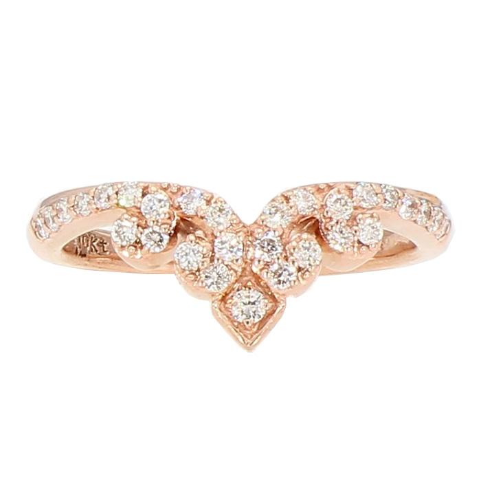 "DIAMOND WEDDING BAND- 10K ROSE GOLD  0.50CT TDW  SIZE 5"""