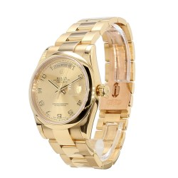 ROLEX DAY-DATE 36, 18K YELLOW GOLD