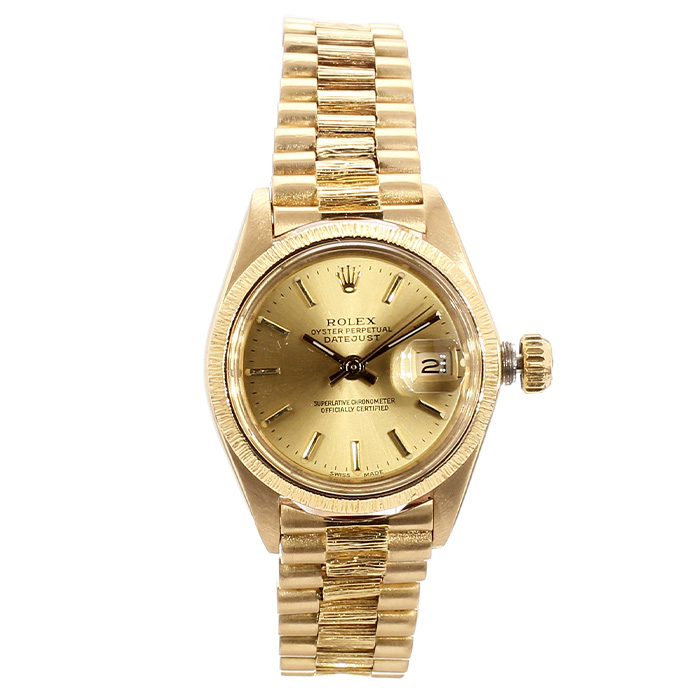 WOMEN'S ROLEX DATEJUST 18K YELLOW GOLD
