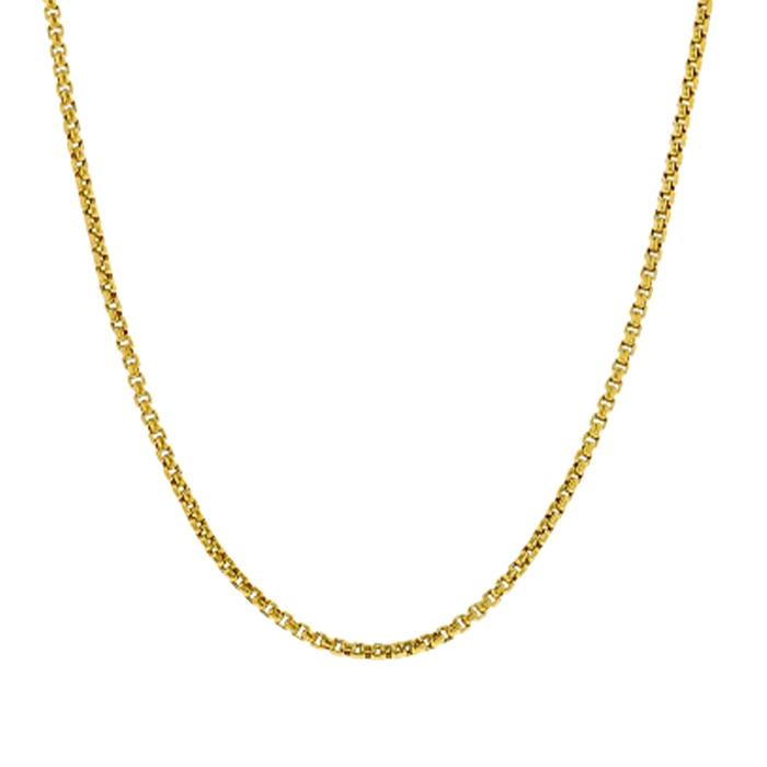 "BOX CHAIN- 14K YELLOW GOLD| 1.6G| LENGTH 18"""