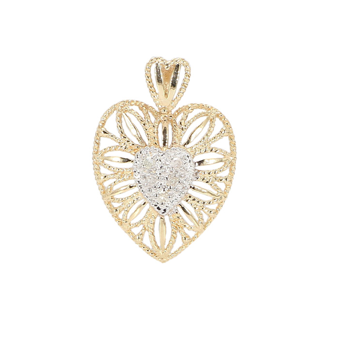 HEART PENDANT- 10K YELLOW GOLD| 1.6G