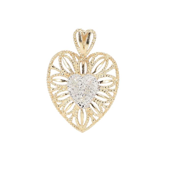 HEART PENDANT- 10K YELLOW GOLD| 1.6G