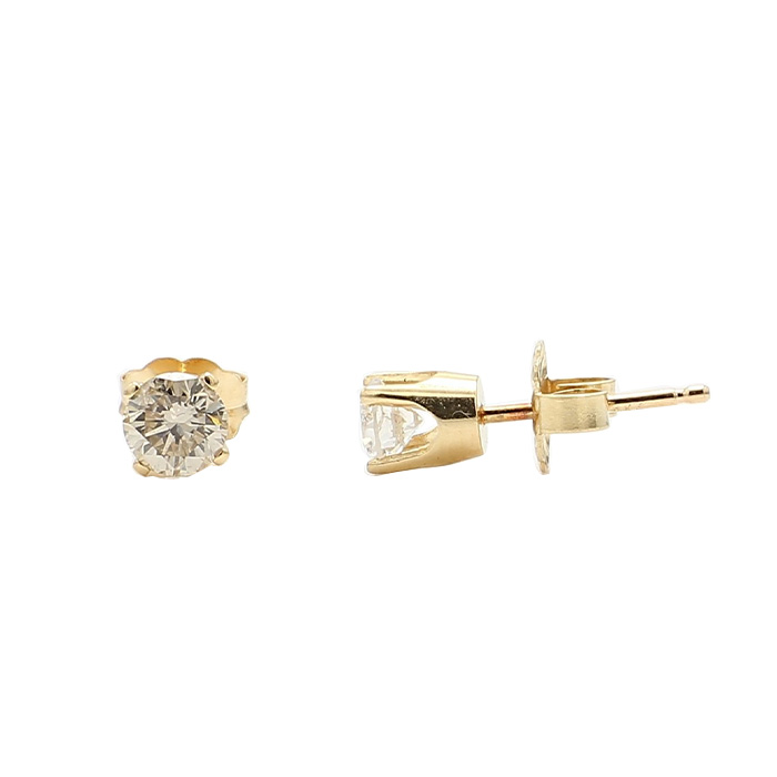 DIAMOND EARRING STUDS- 14K YELLOW GOLD| 0.50CT TDW