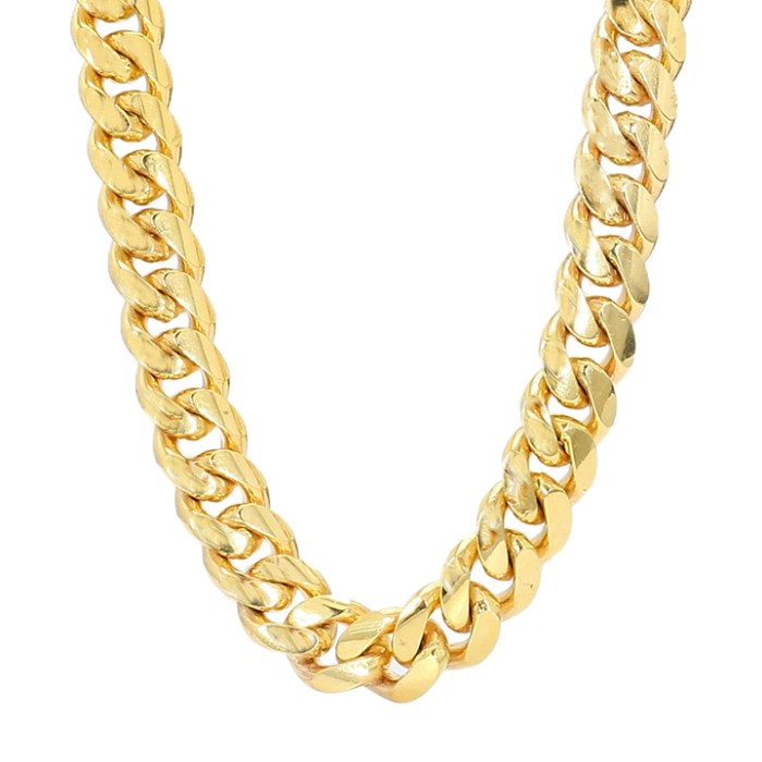 MIAMI CUBAN LINK NECKLACE- 10K YELLOW GOLD| 96.6G| LENGTH 24