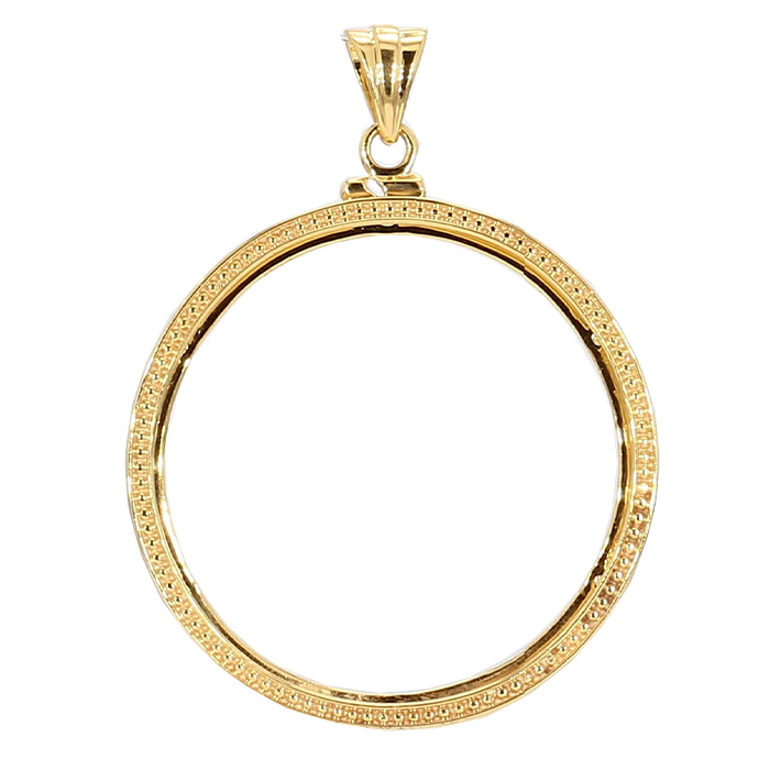 GOLD BEZEL FOR 1 OZ GOLD COIN- 14K YELLOW GOLD| 4.6G