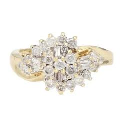 "DIAMOND RING- 10K YELLOW GOLD  5.6G  0.75CT TDW  SIZE 9.25"""