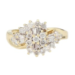 "DIAMOND RING- 10K YELLOW GOLD| 5.6G| 0.75CT TDW| SIZE 9.25"""