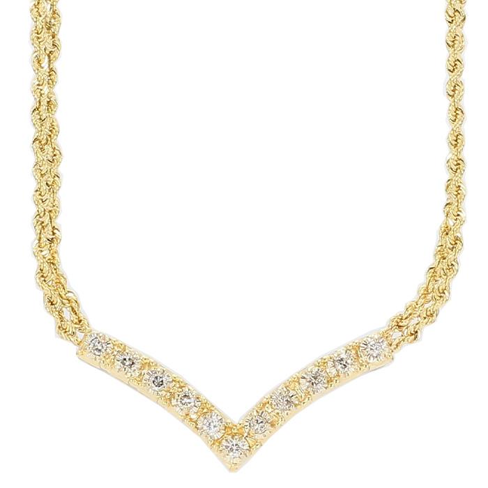 DIAMOND NECKLACE- 14K YELLOW GOLD| 10G