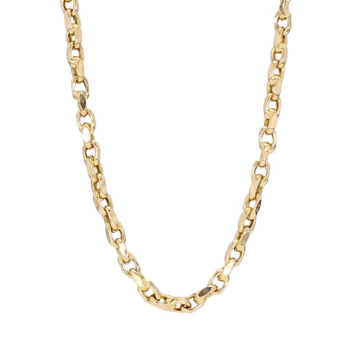 """CHAIN NECKLACE- 14K YELLOW GOLD