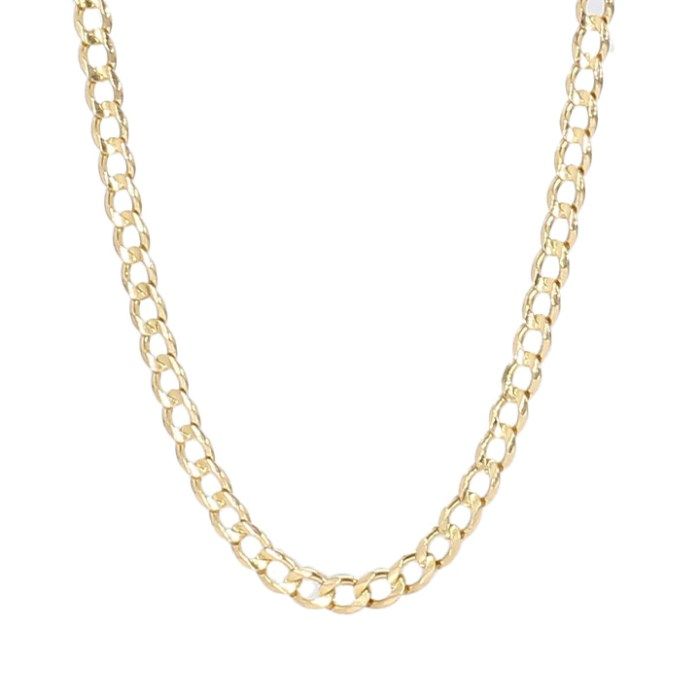 CURB NECKLACE- 14K YELLOW GOLD| 5.1G| LENGTH 21"