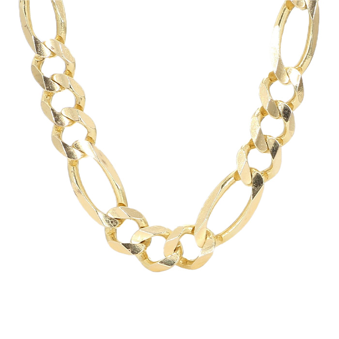 """FIGARO NECKLACE-14K YELLOW GOLD  27.4G  LENGTH 22"""""""