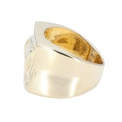 "MENS DIAMOND RING- 14K YELLOW GOLD| 10.2G| 1.00CT TDW| SIZE 7"""