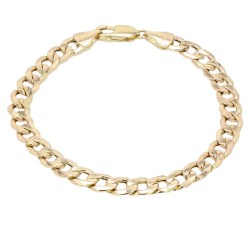 CURB LINK BRACELET- 10K YELLOW GOLD| 7.7G| LENGTH 8.50""