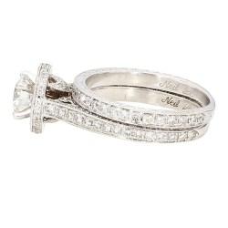 NEIL LANE'S DIAMOND BRIDAL SET- 14K WHITE GOLD| 5.7G| 0.75CT| 1.50CT TDW| SIZE 5.50″