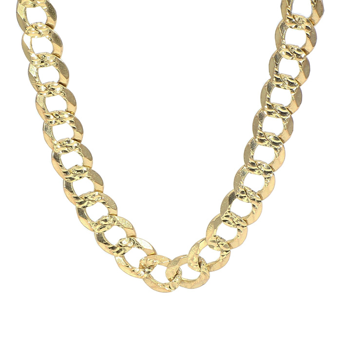 """CURBLINK NECKLACE- 14K YELLOW GOLD