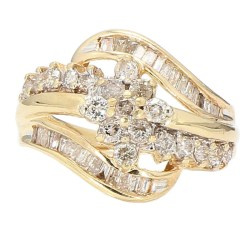 DIAMOND RING- 10K YELLOW GOLD| 3.6G| 1.00CT TDW| SIZE 7.75""
