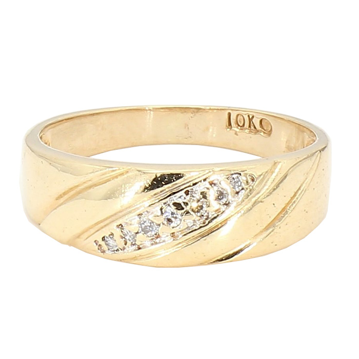 """MENS BAND- 10K YELLOW GOLD