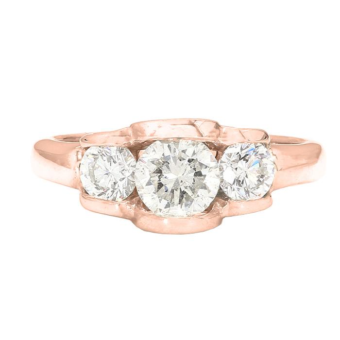 DIAMOND ENGAGEMENT RING- 14K ROSE GOLD