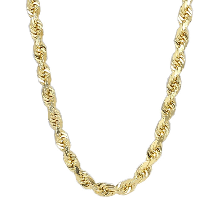 ROPE NECKLACE- 14K YELLOW GOLD| 22.3G| LENGTH 26"