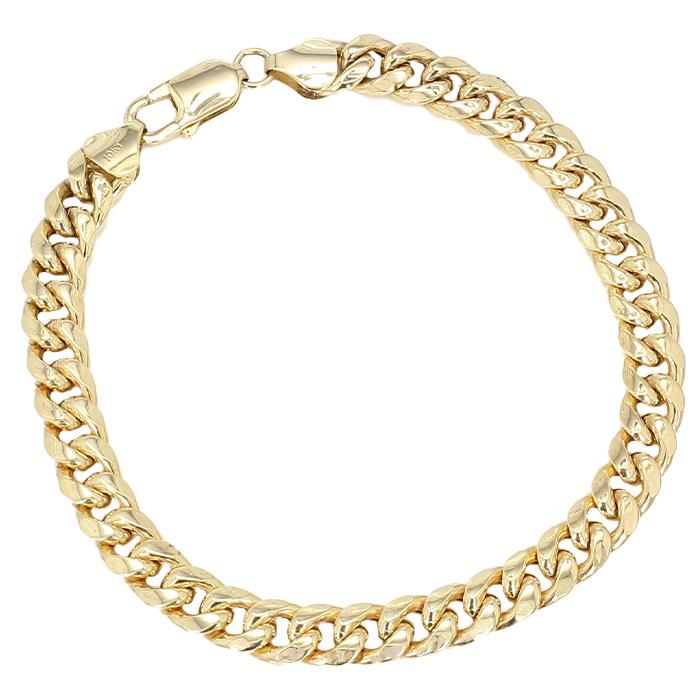 "CUBAN LINK BRACELET- 10K YELLOW GOLD| 11.6G| LENGTH 8.50""| WIDTH 7.50MM"