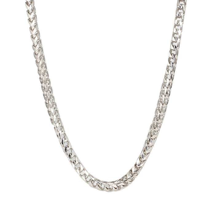 """FOXTAIL NECKLACE- 14K WHOTE GOLD