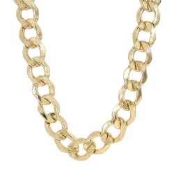 """CURB LINK NECKLACE- 10K YELLOW GOLD
