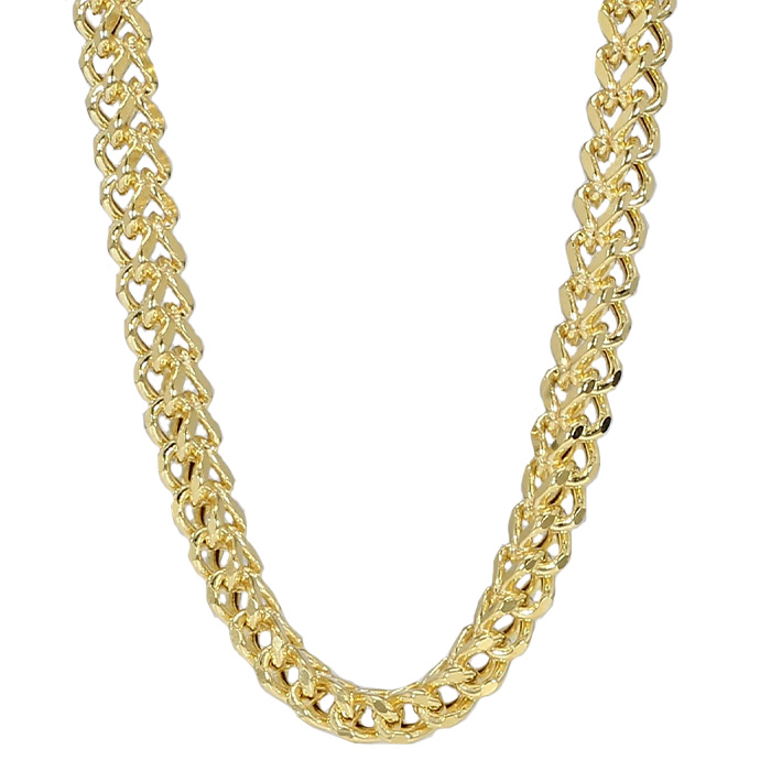 """FOXTAIL NECKLACE- 14K YELLOW GOLD