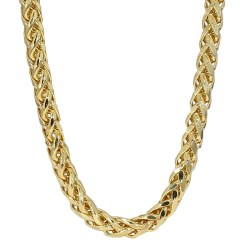 """WHEAT NECKLACE- 14K YELLOW GOLD  16.3G  LENGTH 24""""  WIDTH 3.90MM"""